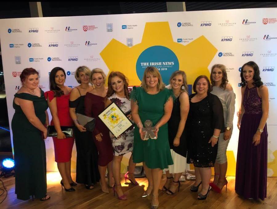 #TEAMmac ladies celebrating WEA award